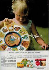 1980 MATTEL French Print Advert.   Animal Speaking Clock