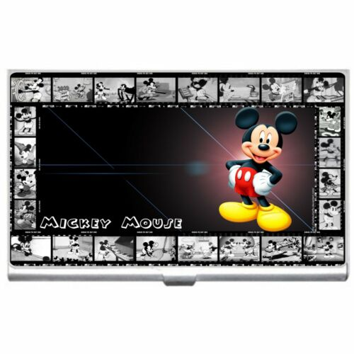 MICKEY MOUSE METAL BUSINESS CREDIT CARD CASE HOLDER NEW