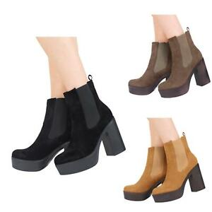 NEW-WOMENS-LADIES-HIGH-HEEL-PLATFORM-PULL-UP-CHELSEA-ANKLE-BOOTS-SHOES-SIZE-3-8