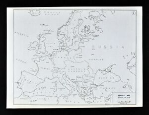 Details about West Point WWI Map Europe in 1914 Germany France Belgium  Austria Hungary Russia