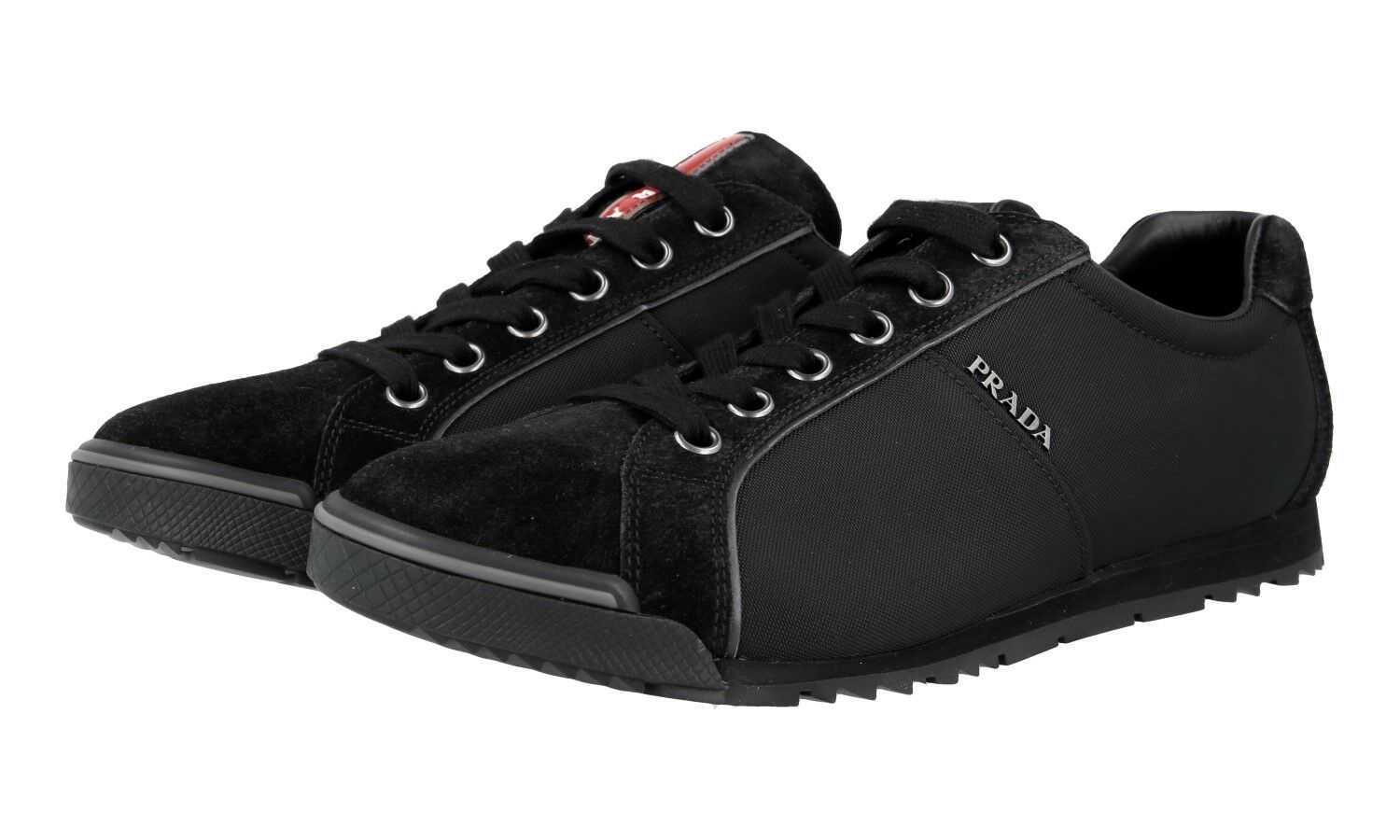 AUTHENTIC LUXURY PRADA SNEAKERS SHOES 4E2719 BLACK NEW 10,5 44,5 45