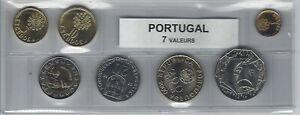 Consciencieux Portugal Série De 7 Pièces De Monnaie