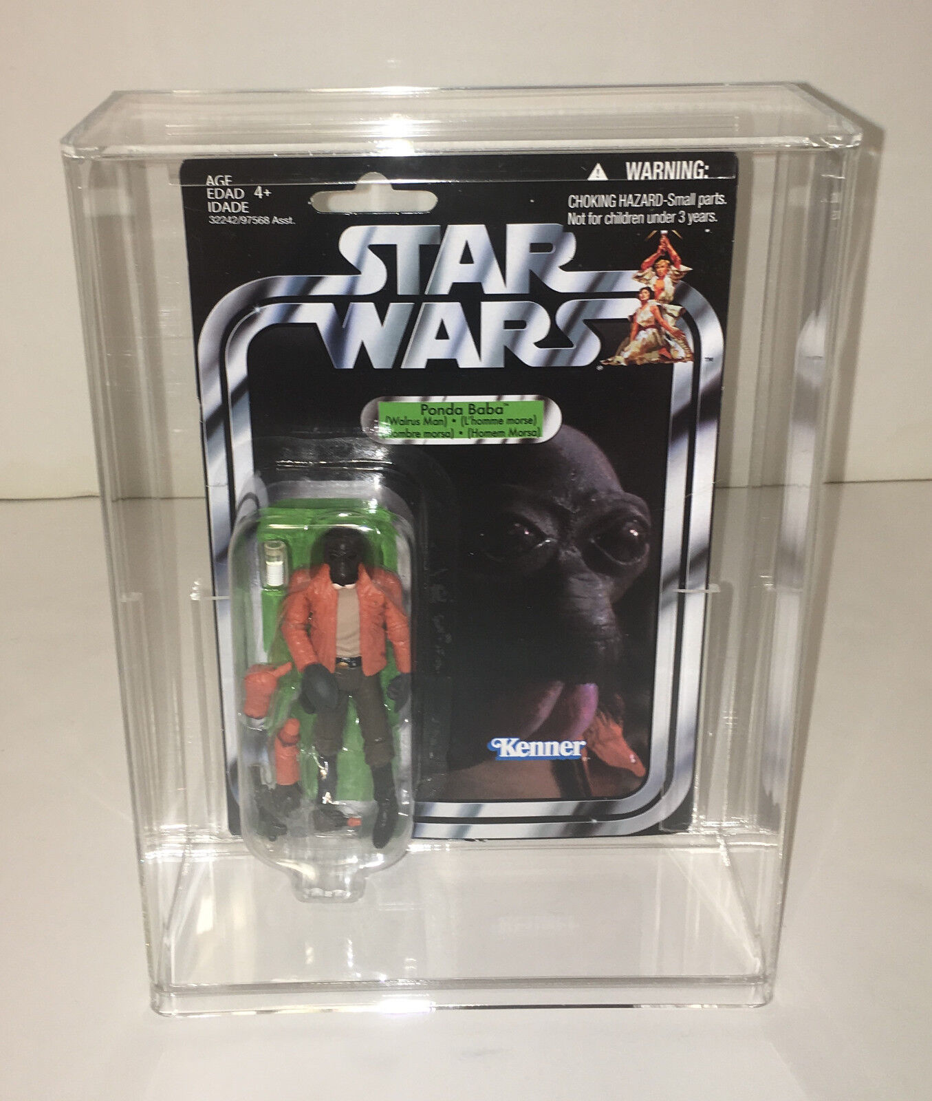 2011 Hasbro STAR WARS The Vintage Collection PONDA BABA Figure in ACRYLIC CASE