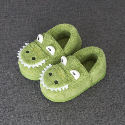 Toddler Kids Boys Girls Winter Fluffy Little Shoes Warm Cute Animal Home Slipper