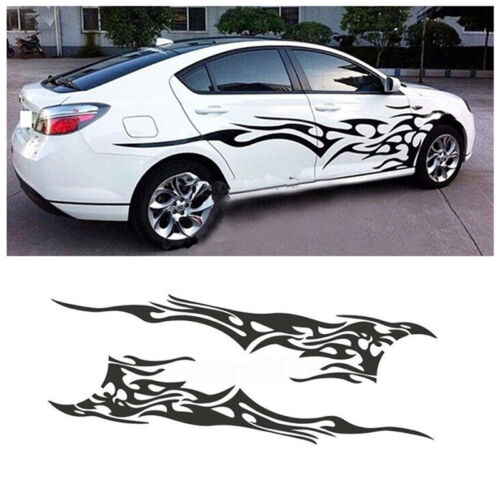 Right Side Body Stickers Car SUV Styling Graphics Decals Flame Fire Totem Left
