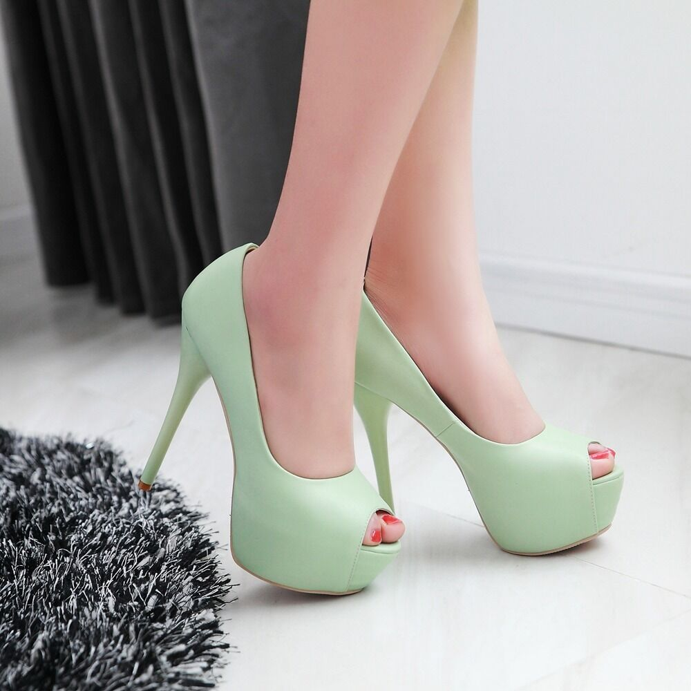 Womens Peep Toes Toes Toes shoes Synthetic Leather High Heels Pumps Sandals US Size S922 d10da3