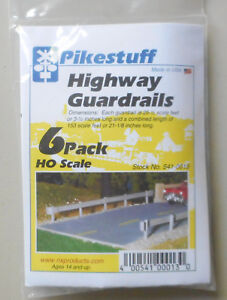6-Pack-HO-Highway-Guard-Rail-Kit-HO-1-87-SCALE-LAYOUT-DIORAMA-Pikestuff-13
