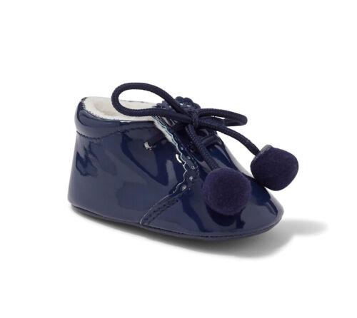 SEVVA Joe Baby Boys Girls Boots Spanish Patent Pom Pom Booties Soft Pram Shoes