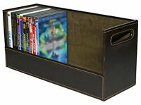 Stock Your Home Stacking Dvd Movie Media Home Storage Organizer- Chocolate Brown on sale