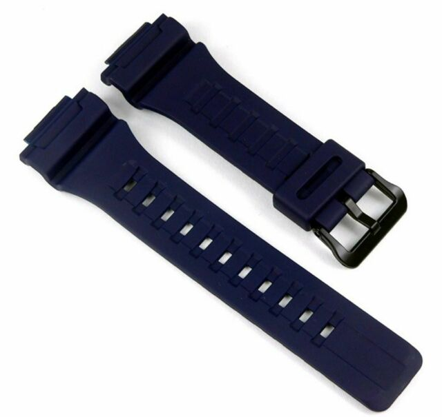 13a30404076a Casio Correa de reloj Resin banda azul oscuro para Aq-s810w