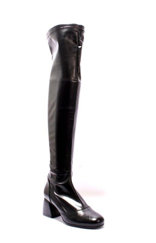 GIBELLIERI m10 negro Stretch over-the-la rodilla botas de tacón 36 US 6