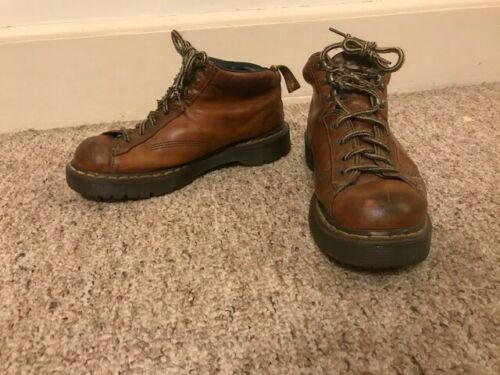 Doc Martins brown lace up size 9 mens boots made i