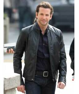050890ce2 Details about Eddie Morra Limitless Bradley Cooper Black Leather Jacket