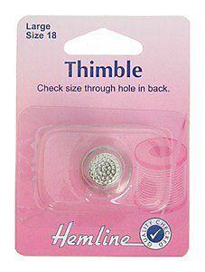 Hemline Large Metal Thimble