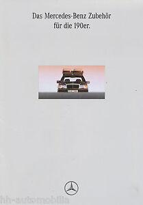 Mercedes-190-Zubehoer-Prospekt-1992-8-92-brochure-prospectus-broschyr-brosjyre