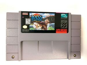 Bass-Masters-Classic-SUPER-NINTENDO-SNES-GAME-Tested-Working-amp-Authentic