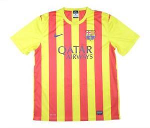 Barcelona 2013-14 originale via di base Camicia (eccellente) L soccer jersey