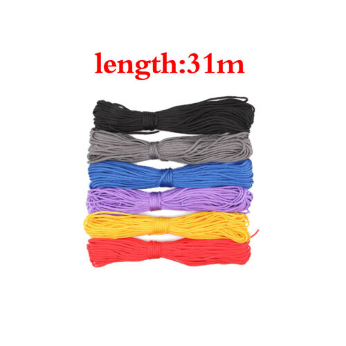 100FT 550 Parachute Cord Mil Spec Type III Paracord 7 Strands Cores Lanyard DIY