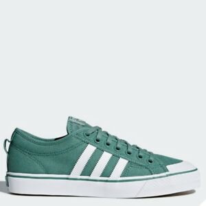 d2b697940ff Image is loading Adidas-Originals-Nizza-Shoes-Athletic-Sneaker-GREEN-WHITE-
