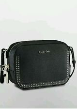 calvin klein womens scarlett city camera bag crossbody black with studs