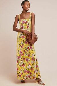 a4e02df86a907 Image is loading New-Anthropologie-Farm-Rio-Cantonal-Maxi-Dress-Yellow-
