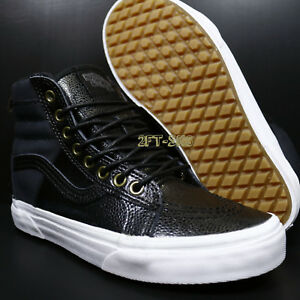 VANS SK8-HI 46 MTE PEBBLE LEATHER BLACK WOMEN S SKATE SHOES  S89173 ... c6cb6e02d