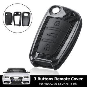 housse de cl/é en silicone pour Audi A1 A2 A3 A4 A5 3 boutons Noir