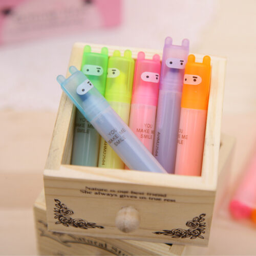 6 Fluorescent Highlighter Marker Pens Assorted Colours Office School Sale SH