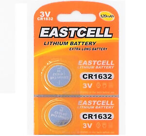2-x-CR1632-3V-Lithium-Batterie-auf-1-Blistercard-a-2-Stueck-EASTCELL