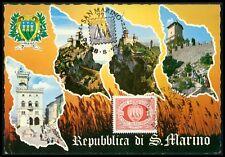 San MARINO MK 1977 3 torri Towers maximum carta carte MAXIMUM CARD MC cm bg45
