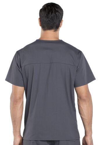 Scrubs Cherokee Workwear Men V Neck Top WW695 PWT Pewter Free Shipping