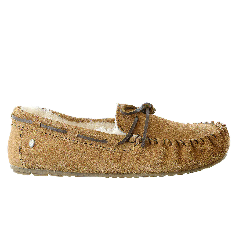 Emu Australia Amity Fur Moccasin Loafer Slip On Shoe - Womens