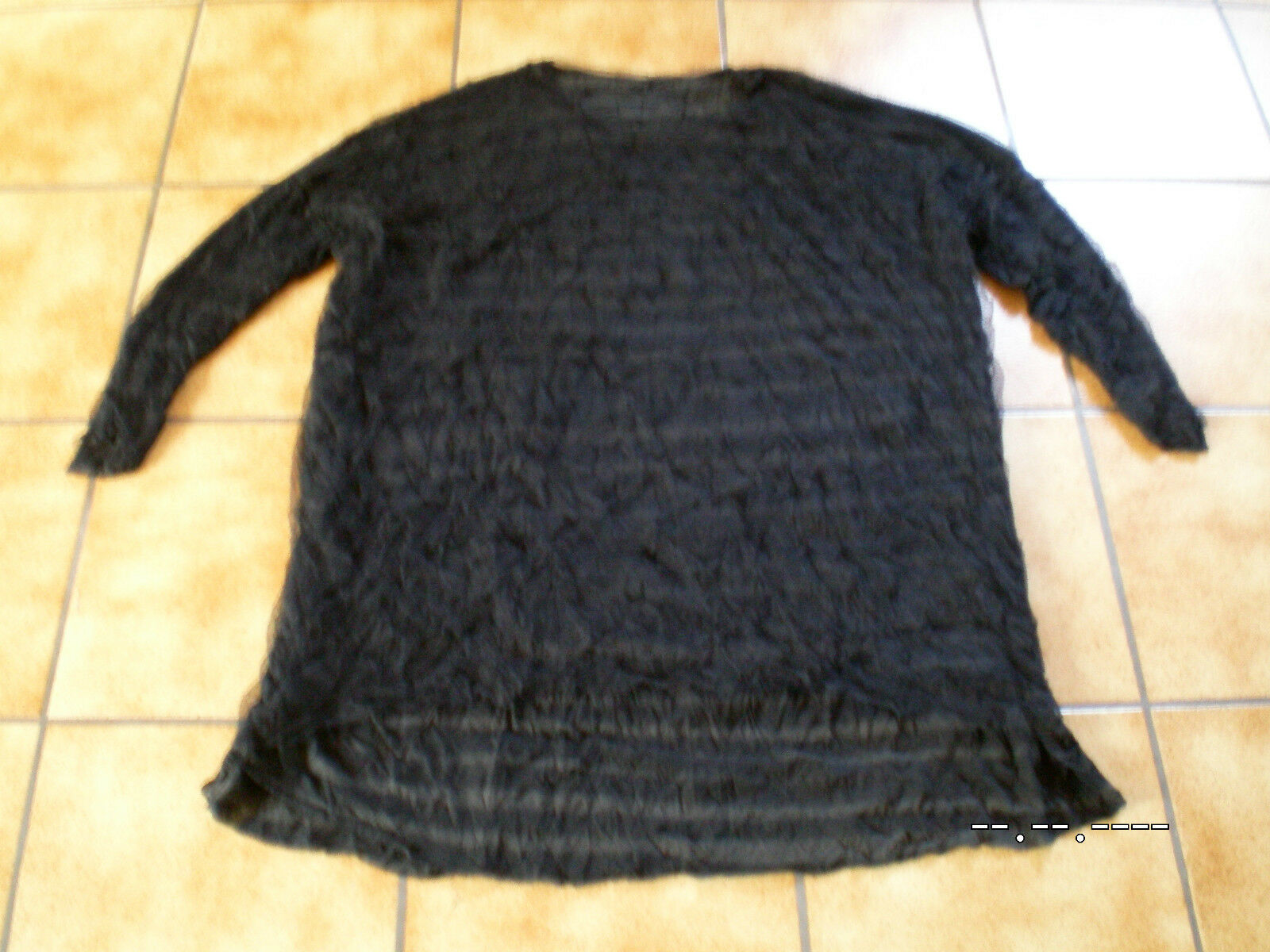 Rundholz schwarz Label,Tunika BIGShirt Shirt,Crash,plati.gestreift,Gr.OS,Lagenlook
