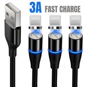 3Pack 3/6Ft Magnetic Charger Cable USB Fast Charging Cord For Apple iPhone 11 XR