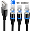 miniature 1 - 3Pack 3/6Ft Magnetic Charger Cable USB Fast Charging Cord For Apple iPhone 11 XR