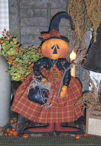 Witch Doll Paper Pattern #138 Primitive Olde Salem Broom Co