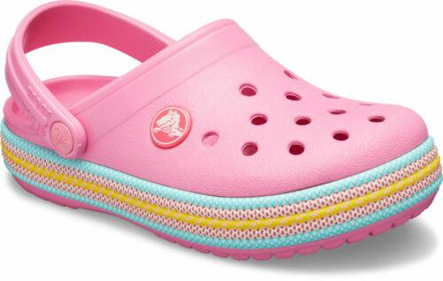 crocs Crocband Sport Cord Clog Kids Pink Lemonade Croslite Normal
