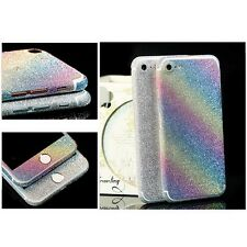 Shockproof Full Cover Sticker Bling Protector Case  Skin For iPhone 7 Rainbow