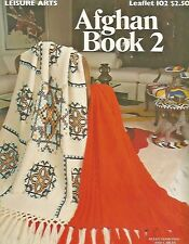 The Afghan Book 2 Vintage 1977 Crochet & Knitting Patterns Leisure Arts #102