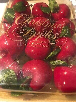 1 Dozen Vintage Sears Trim Shop Christmas Red Apples Tree ...