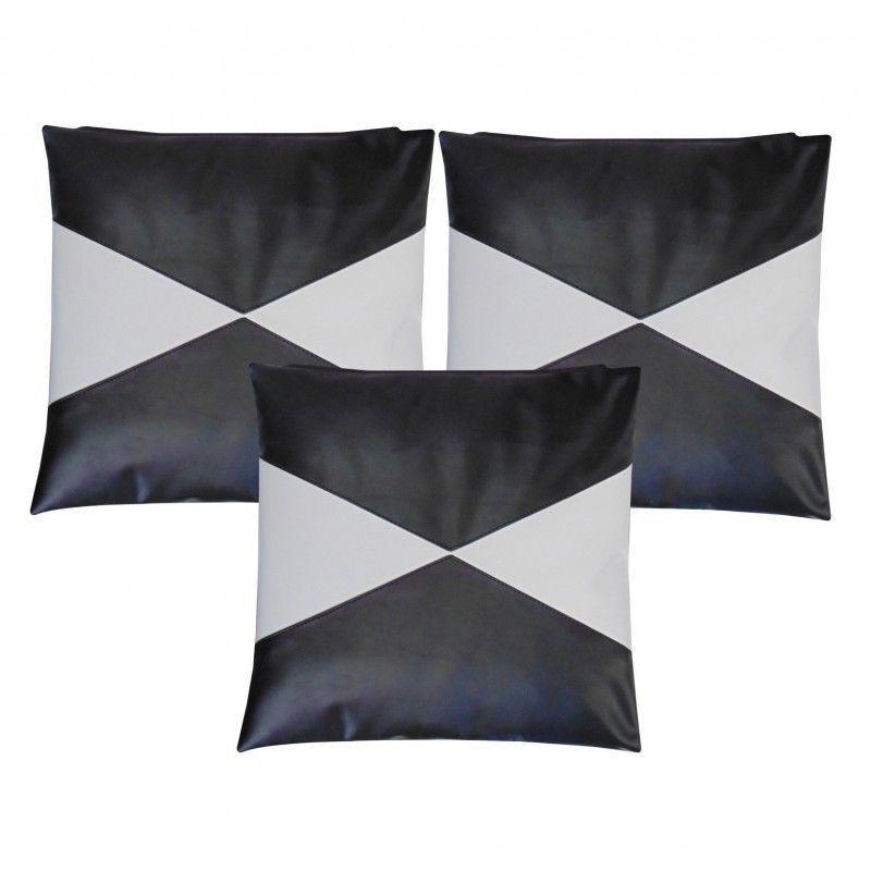Fashion Family Leather Pillow Case Sofa Cushion Cover Home Decor Set of 2 - PL52