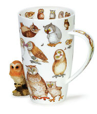 Stunning Bird Lover Owl Twitters Dunoon Fine Bone China Large Mug Henley Style