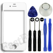 Front Screen Glass Lens Replacement Cover for iPhone 4 / 4S / Black / White