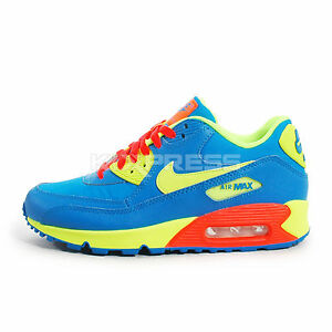 Nike-Air-Max-90-BG-307793-410-NSW-Running-Photo-Blue-Volt-Hyper-Crimson