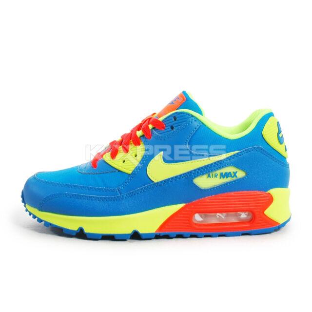 best service 4ed7b 5a97d Nike Air Max 90 BG  307793-410  NSW Running Photo Blue Volt