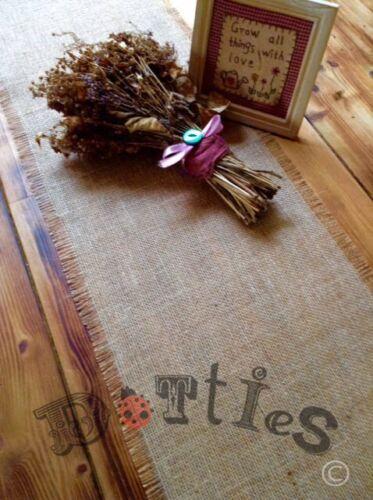 50ft Rustic Handmade Hessian Table Runner