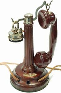 antiguo-y-precioso-Telefono-en-madera-de-sobremesa-GRAMMONT-de-1909