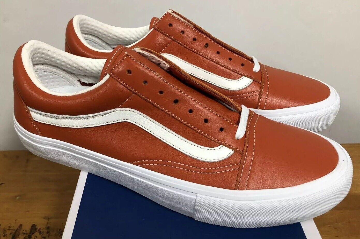 Vans Old Skool VLT LX Italian Leather Mango Sz 10.5 NIB