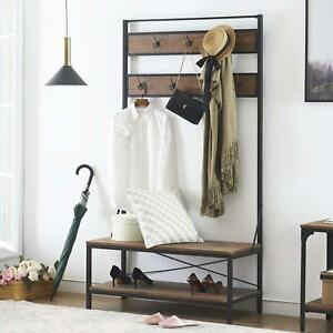 Swell Details About Entryway Coat And Shoe Rack With Seat Shoe Storage Bench Hallway Shelf Hall Tree Andrewgaddart Wooden Chair Designs For Living Room Andrewgaddartcom