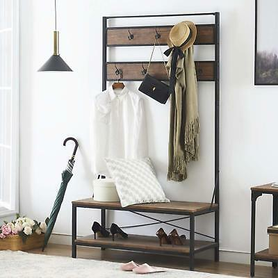 Entryway Coat And Shoe Rack With Seat Shoe Storage Bench